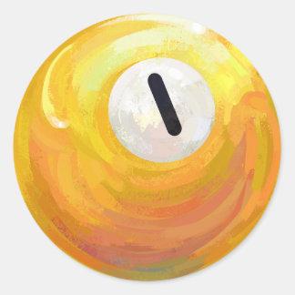 En boll runt klistermärke