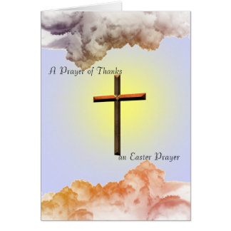 En bön av tack hälsningskort