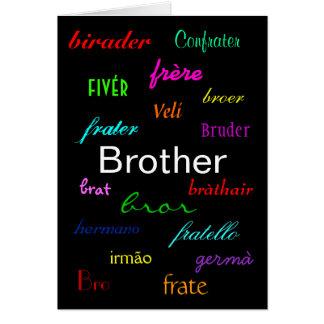 """""""En broder födelsedag Card jag"""" - anpassade Hälsningskort"""