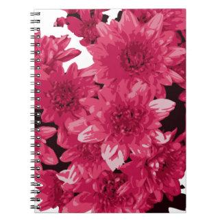 En bukett av röda Clipart blommor Anteckningsbok Med Spiral