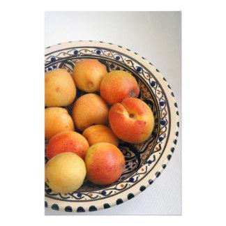 En bunke av medelhavs- aprikosar 2 fototryck