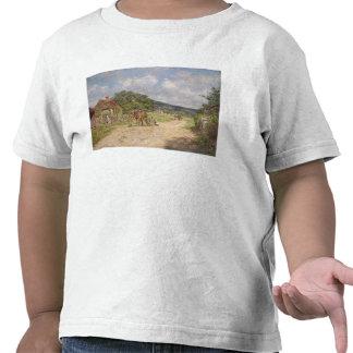 En byplats (olja på kanfas) tröjor