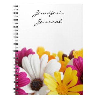 En charmig bukett av blommor anteckningsbok