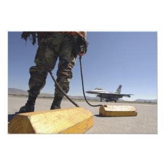 En chef för US-flygvapenbesättning Fototryck