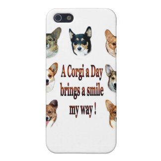 En Corgi ett dagSpeckfodral iPhone 5 Skydd
