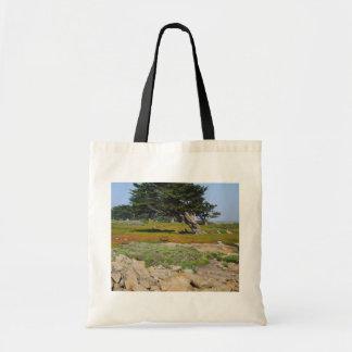En Cypress på hav beskådar Tote Bags