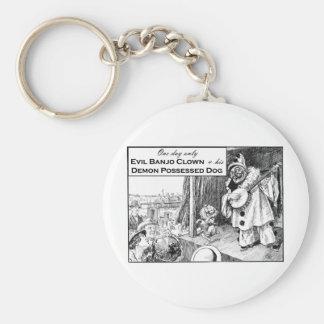 En dag endast: Ond Banjoclown Rund Nyckelring