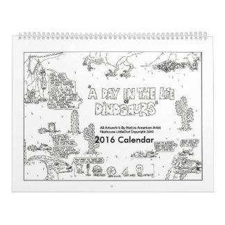 En dag i livet av kalendern för Dinosaurs 2016 Kalender