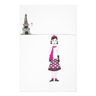En dag i Paris frankriken Brevpapper
