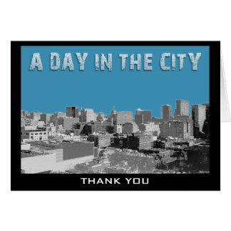 En dag i staden hälsningskort