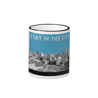 En dag i staden ringer mugg