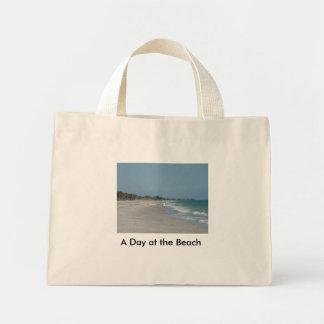 En dag på stranden mini tygkasse