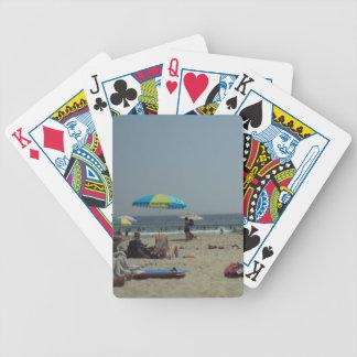 En dag på stranden spelkort