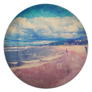 En dag på stranden tallrik
