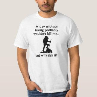 En dag, utan att fotvandra t-shirts
