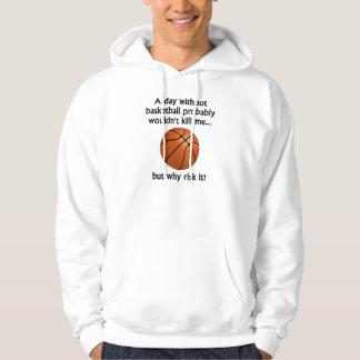 En dag utan basket sweatshirt med luva