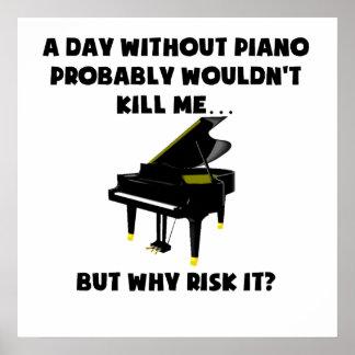 En dag utan pianot poster