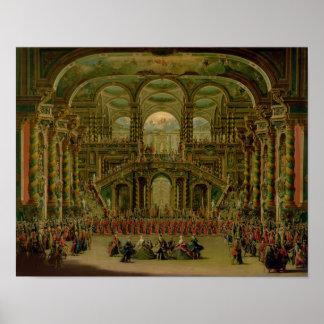 En dans i en barock rokokoslott poster