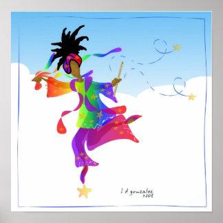 En dansare Rite som fjädrar affischen Posters