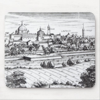 En dela upp av en karta av Milan, 1640 Mus Mattor