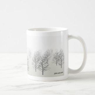en dimmig morgon kaffemugg