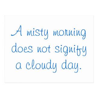 En dimmig morgon… vykort