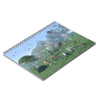 En djur platsanteckningsbok för exotisk vild anteckningsbok med spiral