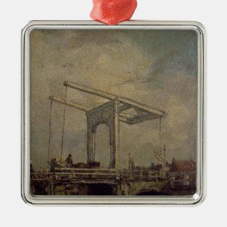 En Drawbridge i en holländsk Town, 1875 Julgransprydnad Metall