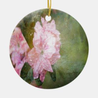 En drömlik rosa Azalea Julgransprydnad Keramik