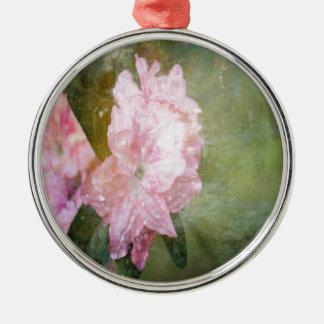 En drömlik rosa Azalea Julgransprydnad Metall