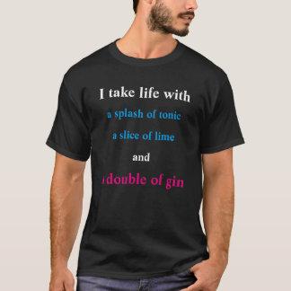 En dubbla av gin tee shirt