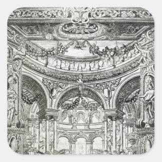 En erkännandebiljett för Handels oratorio Fyrkantigt Klistermärke