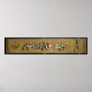 En eskortfartyg av Mongols, kines, 14th århundrade Poster