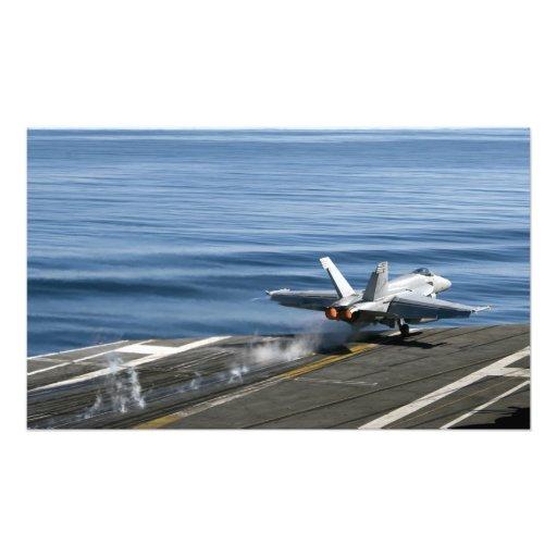 En F-/A-18Etoppenbålgeting Fotografiskt Tryck