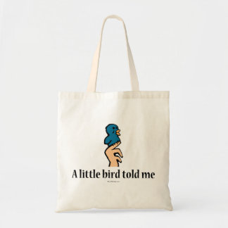 En fågel berättade lite mig… budget tygkasse