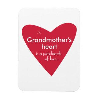 En farmor hjärta magnet