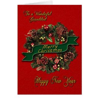 En festlig julkran för din Grandad Hälsningskort