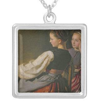 En flicka från Probsteier, 1844 Silverpläterat Halsband