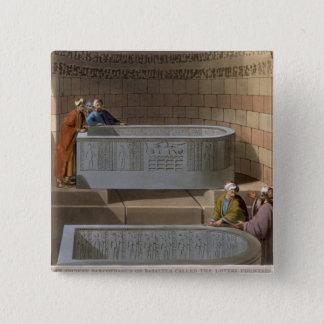 En forntida sarkofag av Basaltes som kallas Loven Standard Kanpp Fyrkantig 5.1 Cm