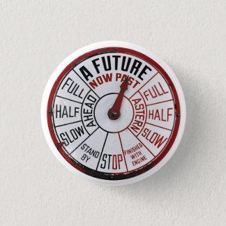 En framtid nu förbi - telegrafera knäppas mini knapp rund 3.2 cm