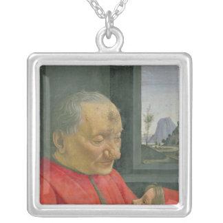 En gamal man och en pojke, 1480s silverpläterat halsband
