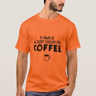 En gäspning är ett tyst skri för kaffe tröja