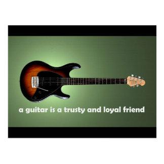 En gitarrist lojal vänvykort vykort