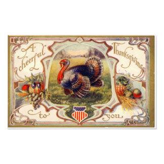 En gladlynt thanksgiving till dig vintage foton
