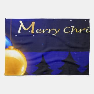 En god julmall med fyra bollar kökshandduk