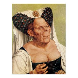 En grotesk gammal kvinna, eventuellt Princess Vykort