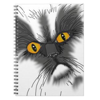 En Grumpy katt inte all här Anteckningsbok Med Spiral