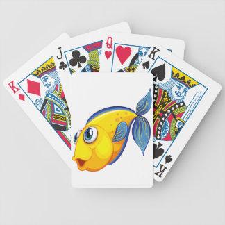 En gul fisk spelkort