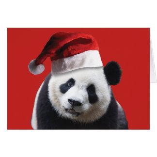 En gullig Pandabjörn som ha på sig en Hälsningskort