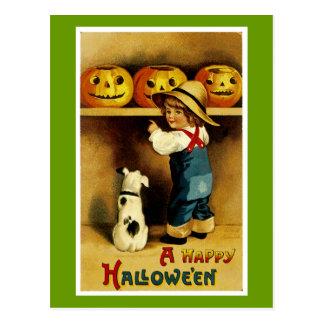 En happy halloween vykort
